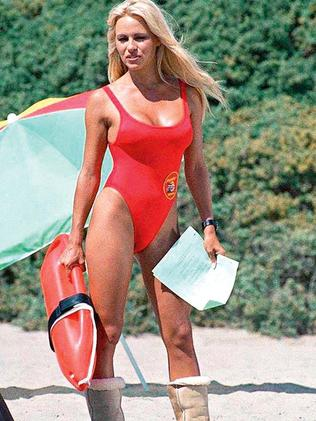 Anderson in her Baywatch days.