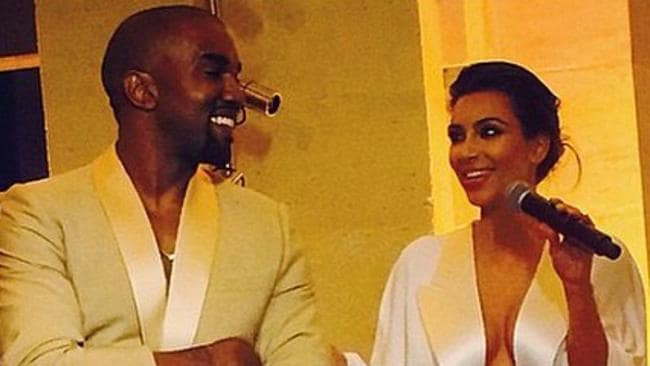 "Compliment of sorts ... Kanye West declared his new wife Kim Kardashian was the ""ideal celebrity"". Picture: Instagram"