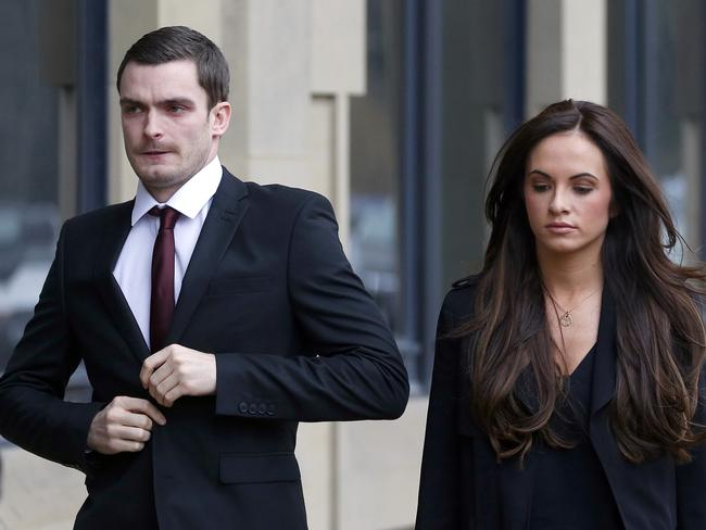 Soccer star Adam Johnson admitted he had 'not been a good person' to partner Stacey Flounders (pictured) and their baby daughter. Picture: Owen Humphreys/PA via AP