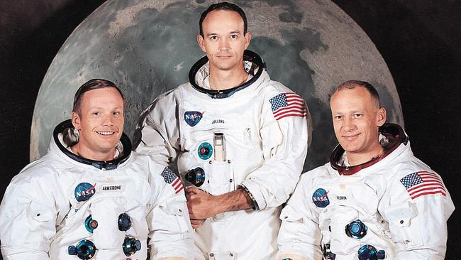 Rocket men. (from left to right) Armstrong, Collins, Aldrin.