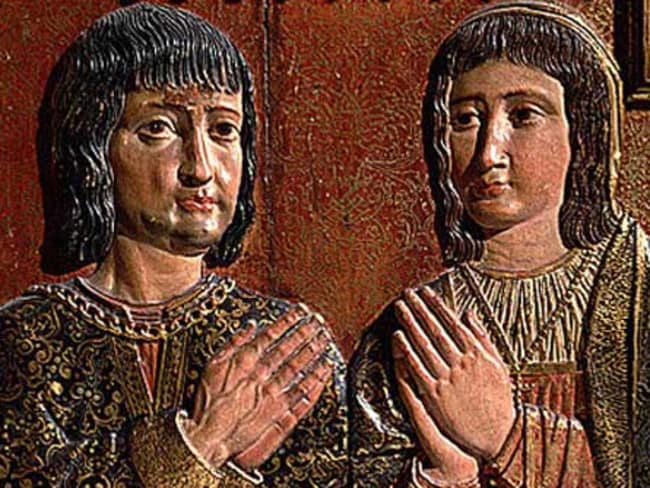 King Ferdinand II of Aragon and his wife Isabella I of Castile.