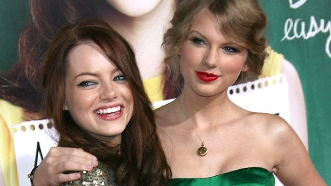 Emma Stone and Taylor Swift at the 'Easy A' film premiere, Los Angeles, America - 13 Sep 2010. Photo by Jim Smeal/BEI / Rex Features