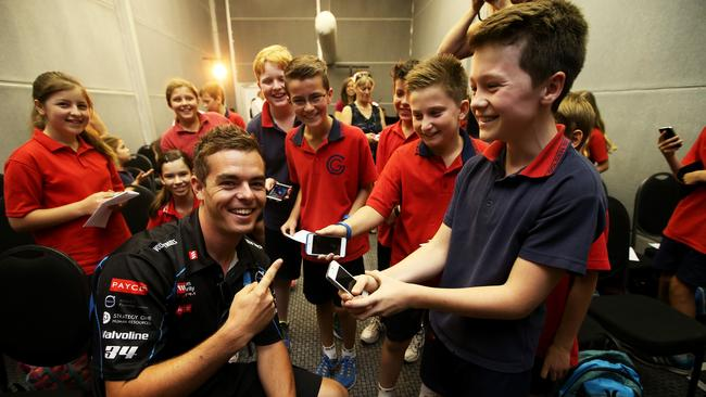 v8 supercars drivers take questions from golden grove