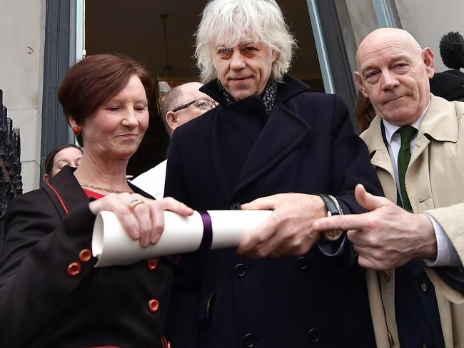 Sir Bob Geldof has returned his Freedom of the City of Dublin award in protest. Picture: Supplied.