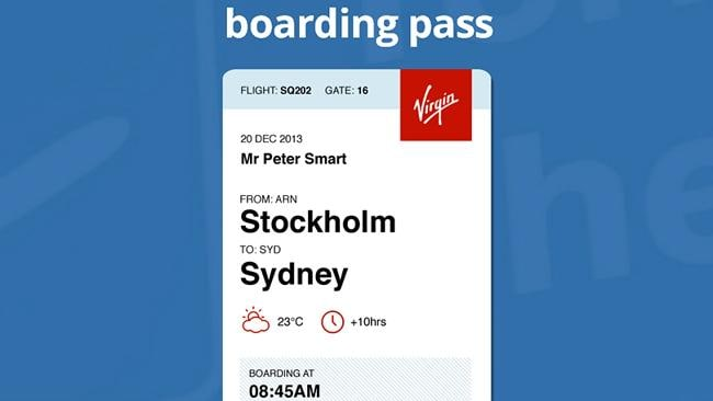 What the new boarding pass would look like. Picture: Peter Smart