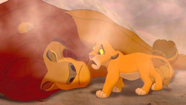 Mufasa was killed by his 'brother' Scar.