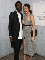 KEEP up to date with all the famous faces at Mercedes-Benz Fashion Week Australia... Nicole Trunfio and fiance Gary Clark Jr. Picture: Getty