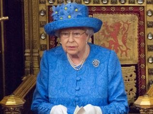 Queen Elizabeth II at Palace of Westminster, June 21, London. Photo: Arthur Edwards/WPA Pool/Getty Images.