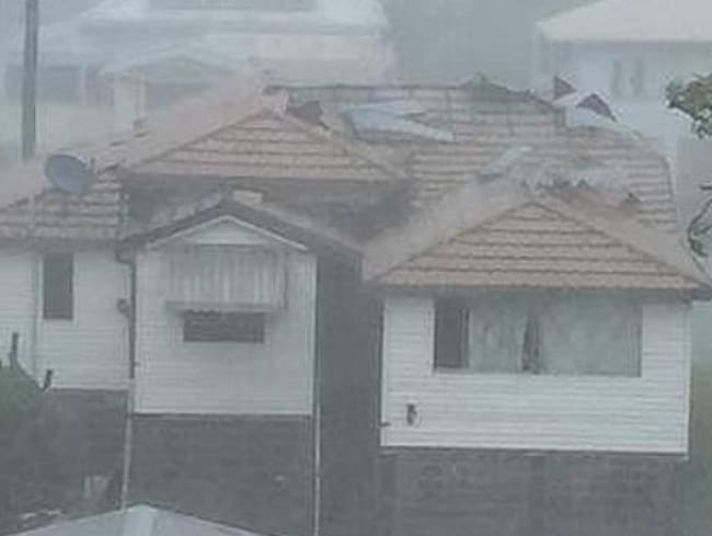 This Rocky home has already started losing its roof. Pic: Kylie Laidlaw