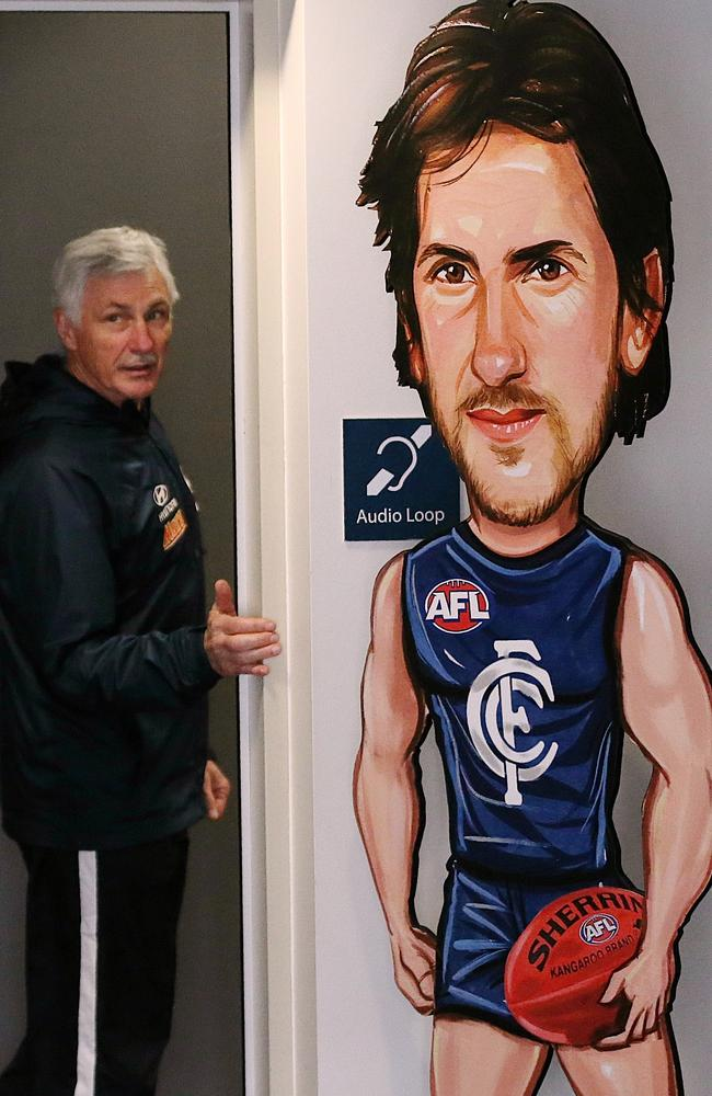 Mick Malthouse and Jarrad Waite. Picture:Wayne Ludbey