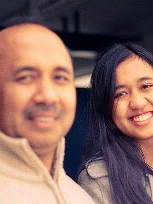 Captain Shah and daughter Aishah Zaharie.