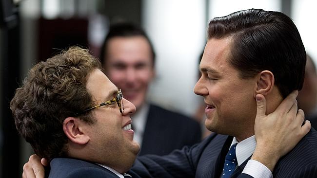 """Jonah Hill, left, and Leonardo DiCaprio in a scene from """"The Wolf of Wall Street."""""""