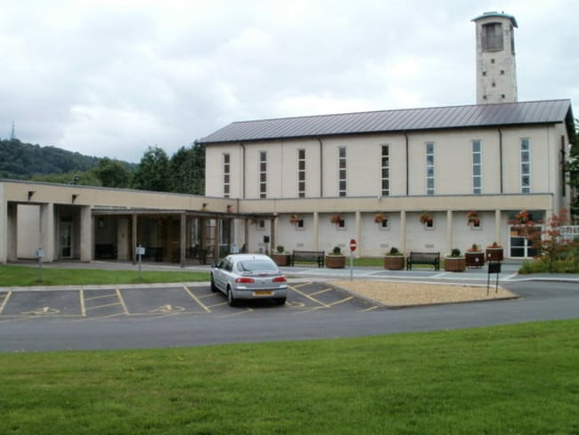 Shocking scenes ... porn was played during the service at Cardiff's Thornhill Crematorium in Wales. Picture: Wikimedia/John Grayson