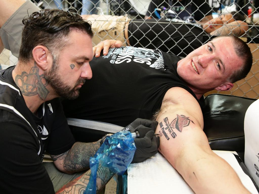 Cronulla sharks players get tattoos to commemorate their for Tattoo studio middleton