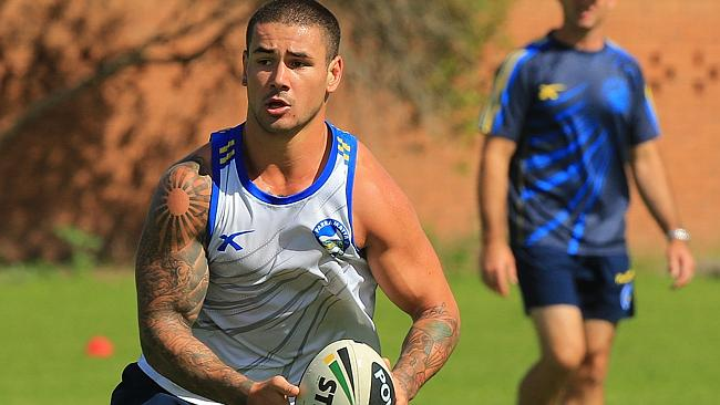 Nathan Peats trains with the Eels.