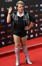 Alright Hey arrives at the 31st ARIA Awards at The Star, in Sydney, Tuesday, November 28, 2017. Picture: AAP Image/David Moir