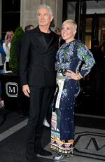 "Baz Luhrmann and Catherine Martin leaves from The Mark Hotel for the 2016 ""Manus x Machina: Fashion in an Age of Technology"" Met Gala on May 2, 2016 in New York City. Picture: Andrew Toth/Getty Images for Mark Hotel"