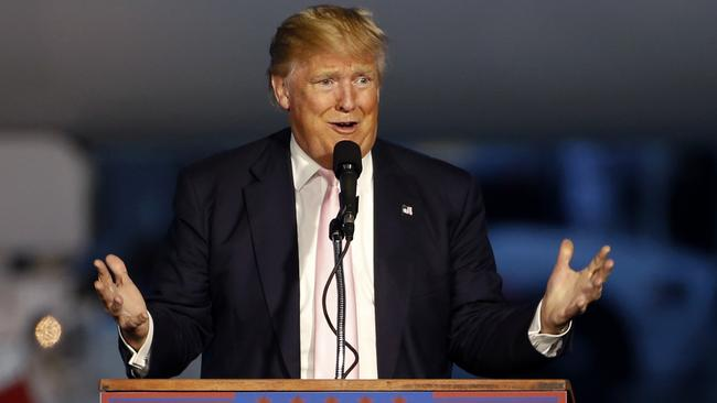 Donald Trump has solidified his lead in the Republican presidential nomination race. Picture: AP/Gene J. Puskar