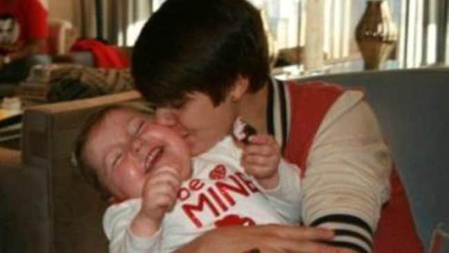 "Justin Bieber tweeted this picture of himself and Avalanna, along with the caption ""BEST PART OF MY DAY"". Picture: Courtesy of Facebook"