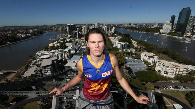 Brisbane Lions player Eric Hipwood recently moved to the south to be closer to the Gabba, but says he would prefer to live on in Brisbane's north. Picture: Annette Dew