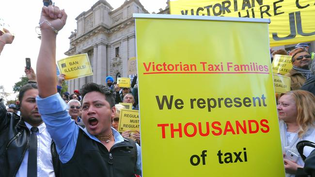Taxi drivers will be celebrating the victory following rallies against Uber. Picture: Ian Currie