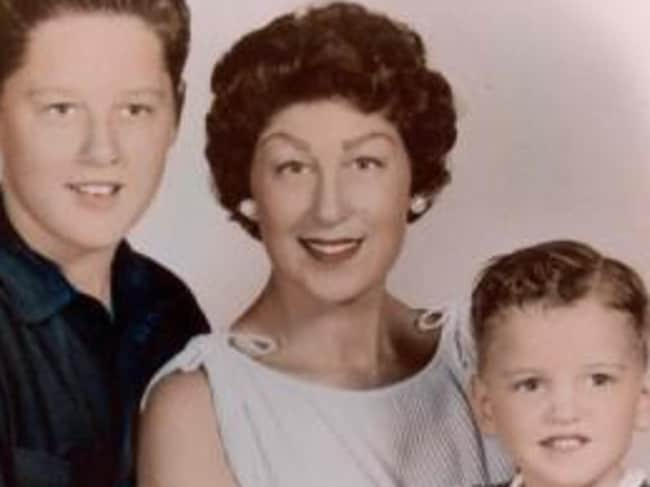 Bill Clinton with his mum and brother. Source: William J. Clinton Presidential Library Facebook
