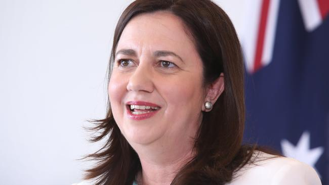 Queensland Premier Annastacia Palaszczuk claims victory in the state election. Picture: Jono Searle/AAP