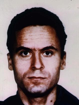 Ted Bundy in his mugshot.
