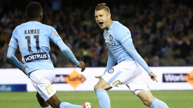 Marcin Budzinski helped Melbourne City secure a point against Central Coast. Picture: Getty Images