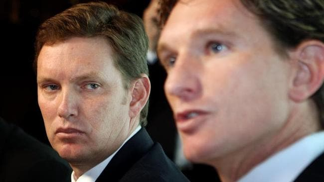 David Evans and James Hird's friendship has been severely damaged.