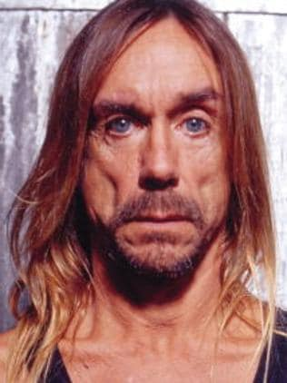 A posed studio portrait of Iggy Pop, taken in May 2001 in Williamsburg, NYC in the United States. Photo: Steven Dewall/Redferns.