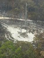 NORTH Stradbroke Island is without power after the bushfire burnt through the high voltage electrical lines that supply power to the southern Moreton Bay region. Energex photo