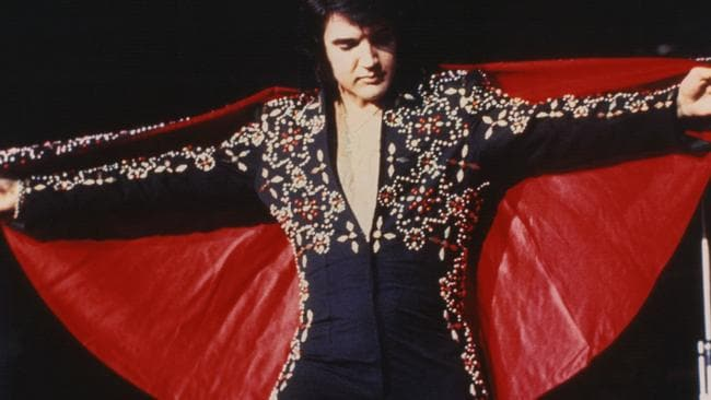 Elvis performing in one of his impressive outfits. Picture: supplied