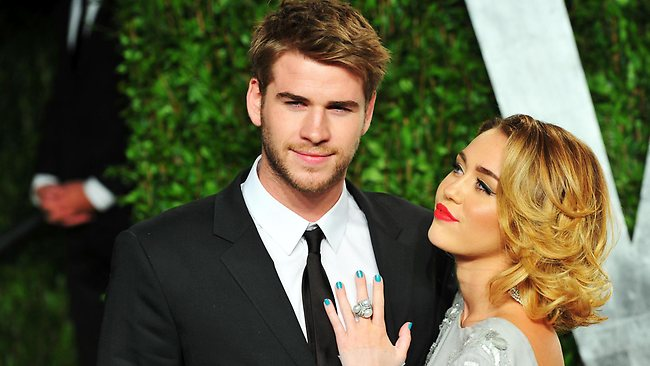 Reps for Liam Hemsworth and Miley Cyrus confirmed yesterday that the couple's relationship was done and dusted, but refused to say why. Picture: Alberto E. Rodriguez