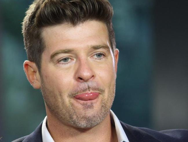 Robin Thicke can be, well, a bit thick at times.