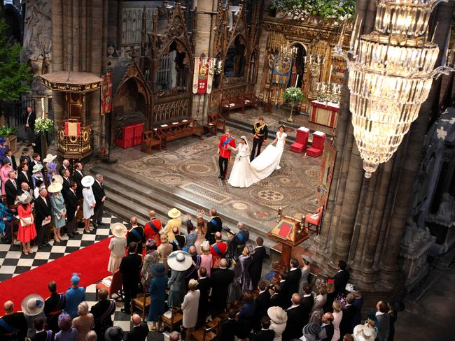 Paola Totaro was the only Australian journalist invited inside Westminster Abbey for the wedding of Prince William and Kate Middleton. Picture: Clara Molden / AFP