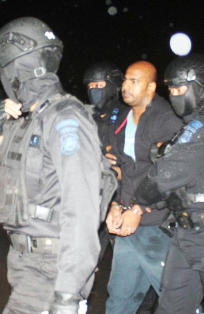 Bali Nine ringleader Myuran Sukumaran on the airport tarmac.