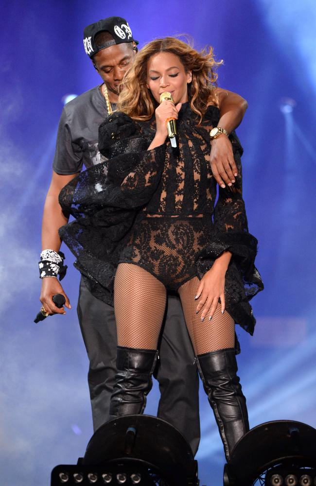 Publicity stunt? ... Jay-Z and Beyonce perform during the On The Run Tour: Beyonce And Jay-Z. Picture: Kevin Mazur/WireImage for Parkwood Entertainment