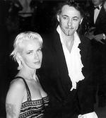 <p>The late TV presenter Paula Yates with her husband, singer Bob Geldof in 1995.</p>