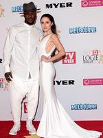 Timomatic and Talia Fowler arrive at the 2014 Logie Awards at Crown Palladium on April 27, 2014 in Melbourne, Australia. (Photo by Robert Prezioso/Getty Images)