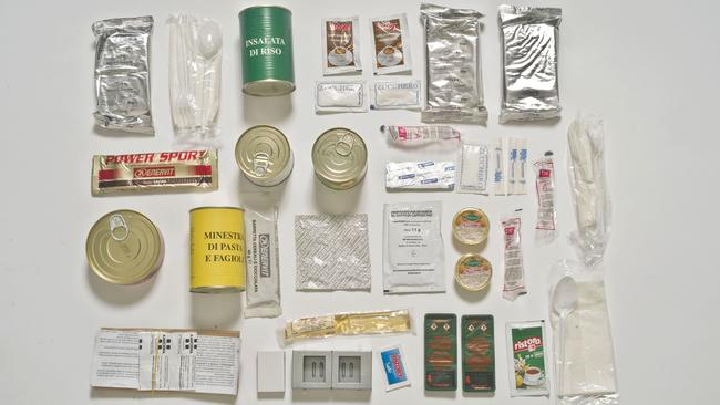The Italian ration pack. Picture: Sarah Lee / Eyevine