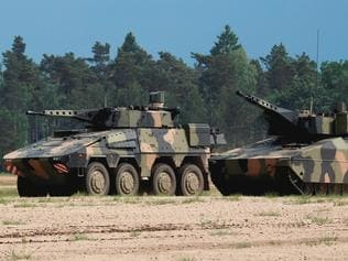 Supplied Editorial Rheinmetall Lynx IFV with Boxer CRV -