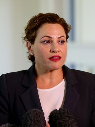 """Acting Premier Jackie Trad says she feels """"sorrow"""" at the loss of the jobs. Picture: Darren England."""