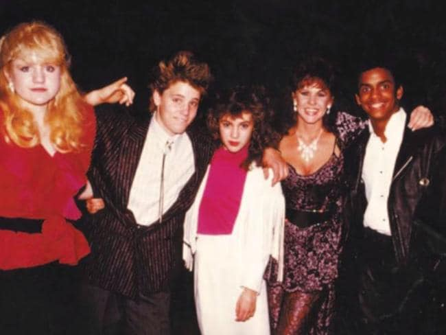Just some of the stars at Soda Pop Club in 1988: Tina Yothers, Corey Haim, Alyssa Milano, The Exorcist actress Linda Blair and Alfonso Ribeiro.