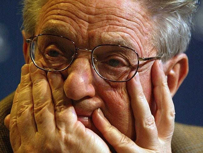 Soros ... Has so much money, heck, why not transform Uruguay too. Picture: EPA