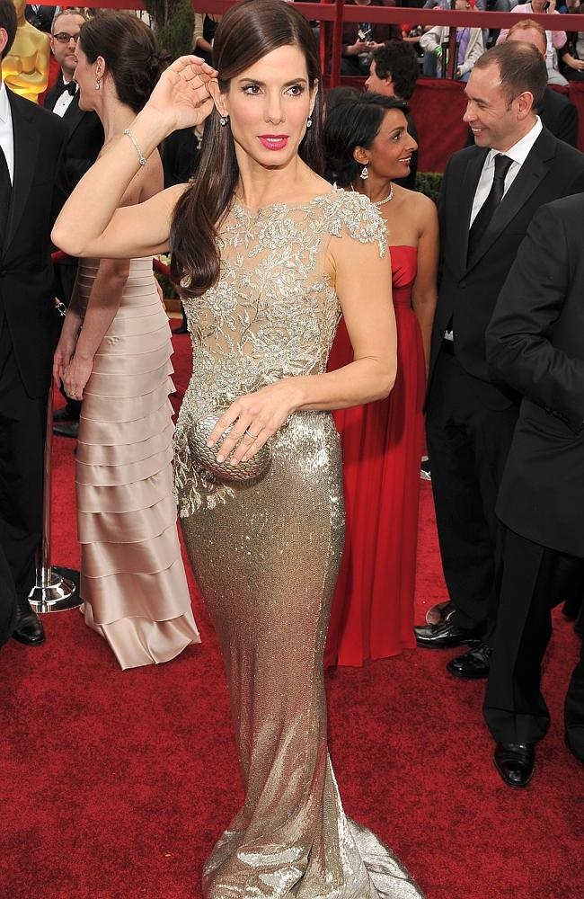 Sandra Bullock arrives at the 82nd Annual Academy Awards.