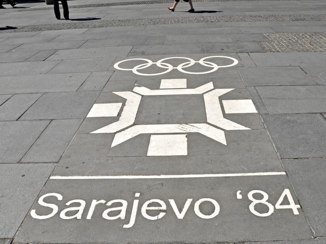 The pavement still stands proud of its Olympic history. Picture: Anosmia.