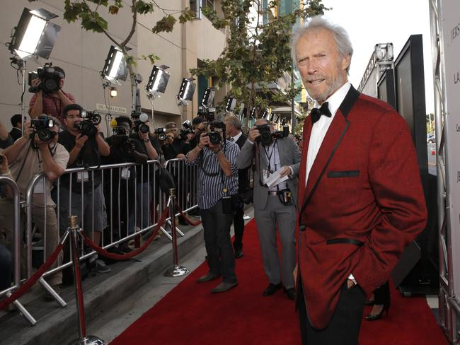 Director Clint Eastwood attends the  <i>Jersey Boys </i>premiere in LA last month.