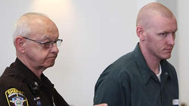 Robert Dingman is escorted out of the Merrimack County Superior Courtroom in May, 2013, after appealing his life sentence.