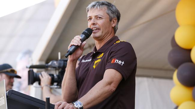 Andrew Newbold believes the equalisation measures will hurt Hawthorn. Picture: Wayne Ludbey